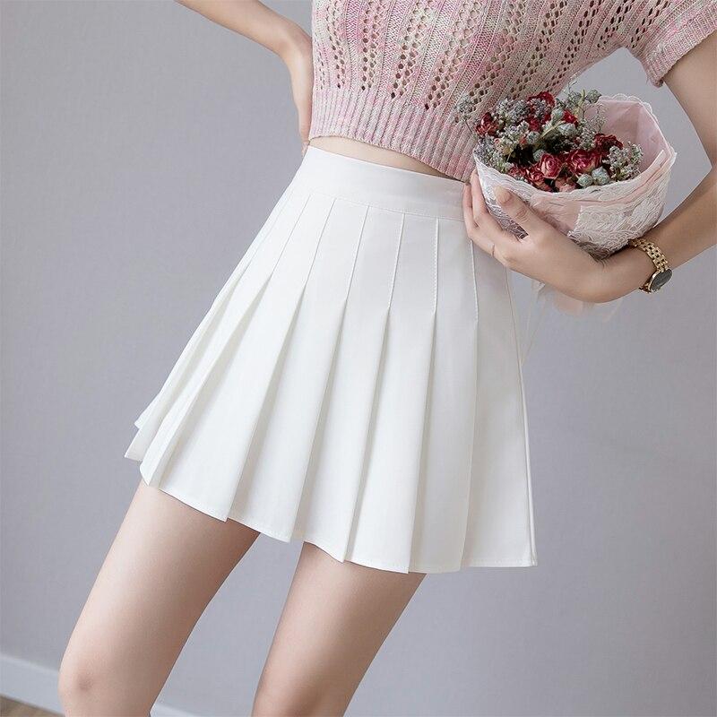 Zoki Sexy Women Pleated Skirt Summer High Waist Chic A Line Ladies Pink Mini Skirt Korean Zipper Preppy Style Girls Dance Skirt