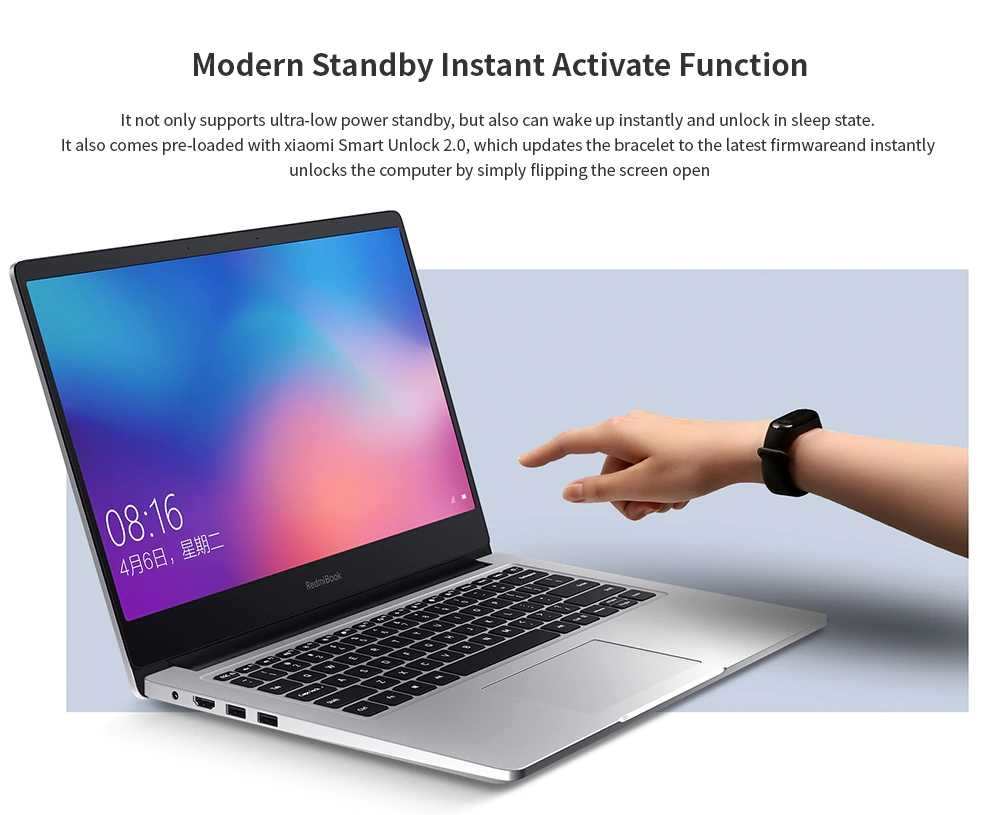 Xiaomi RedmiBook Laptop 14.0 Cal AMD Ryzen 5-3500U 8GB RAM DDR4 512GB ROM SSD zintegrowana grafika Radeon Vega 8 Win 10 Notebook