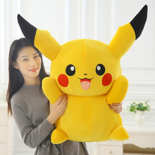 40/50/60cm Pikachu Plush Toy High Quality Super Cute Toys Kawaii Dolls Cartoon Anime Movie Tv Gift For Kid girl