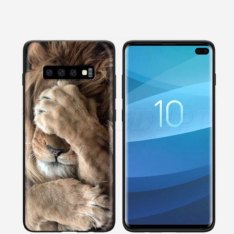 Webbedepp aslan alfa erkek samsung kılıfı Galaxy S7 S8 S9 S10 artı kenar not 10 8 9 A10 A20 A30 A40 a50 A60 A70