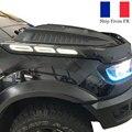 Side Bonnet lights Daylight Running Lights For Ford Ranger RAPTOR 2021 XL XLT Wildtrak 2012 2013 2015 2014 2016 2017 2018 2019