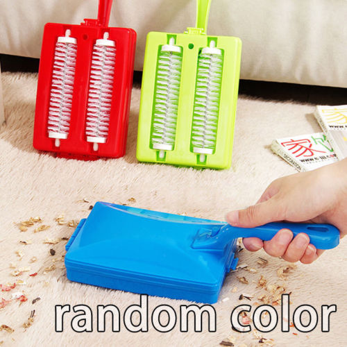 2020 Double Brush Carpet Crumb Brushs Collector Hand Held Table Sweeper Dirt Home Kitchen Cleaner Random Colors image