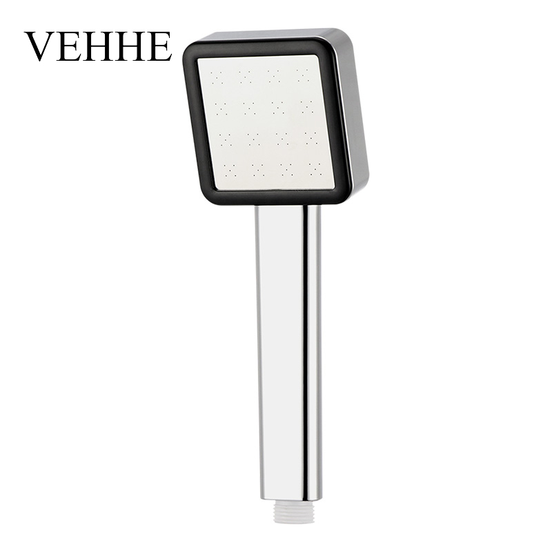 VEHHE Stainless Steel Panel Handhold Showerhead Pressure Boost Chrome Nozzle ABS Water-Saving Bathroom Shower Head Accessory