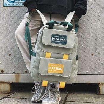 Dcimor mochilas de gran capacidad, à prova d'água, de nylon, portátil, bolsa...