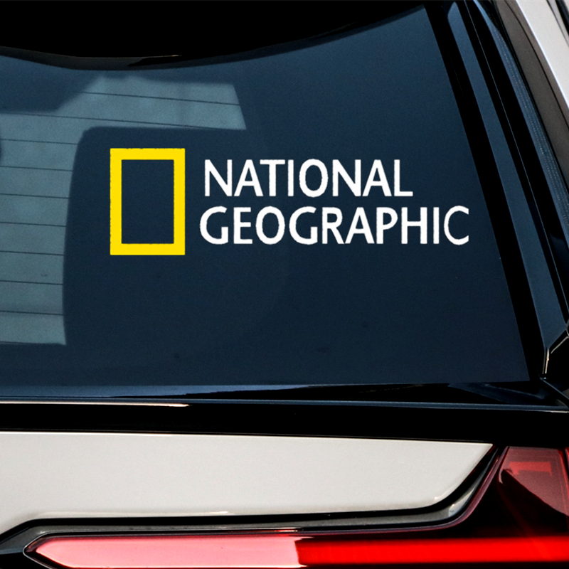 Length:15cm;24cm National Geographic Channel Car Creative Stickers Decals Motorcycle Windshield Auto Tuning Styling Vinyls D11