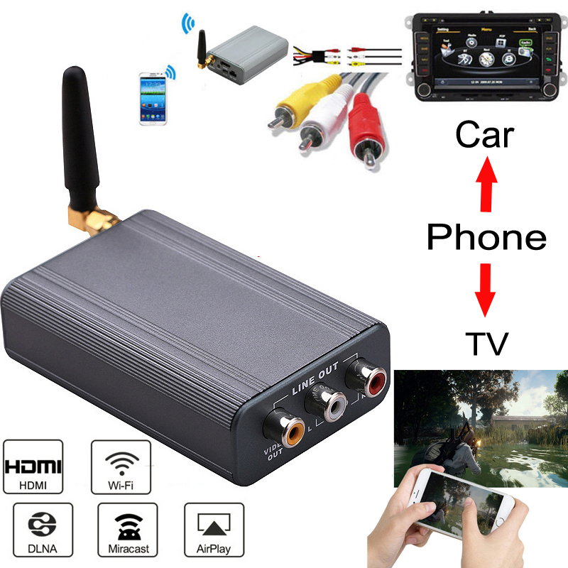 Car Wireless Wifi Mirror Link Box HDMI Video Dongle for iPhone X 8 7 6 /& Android