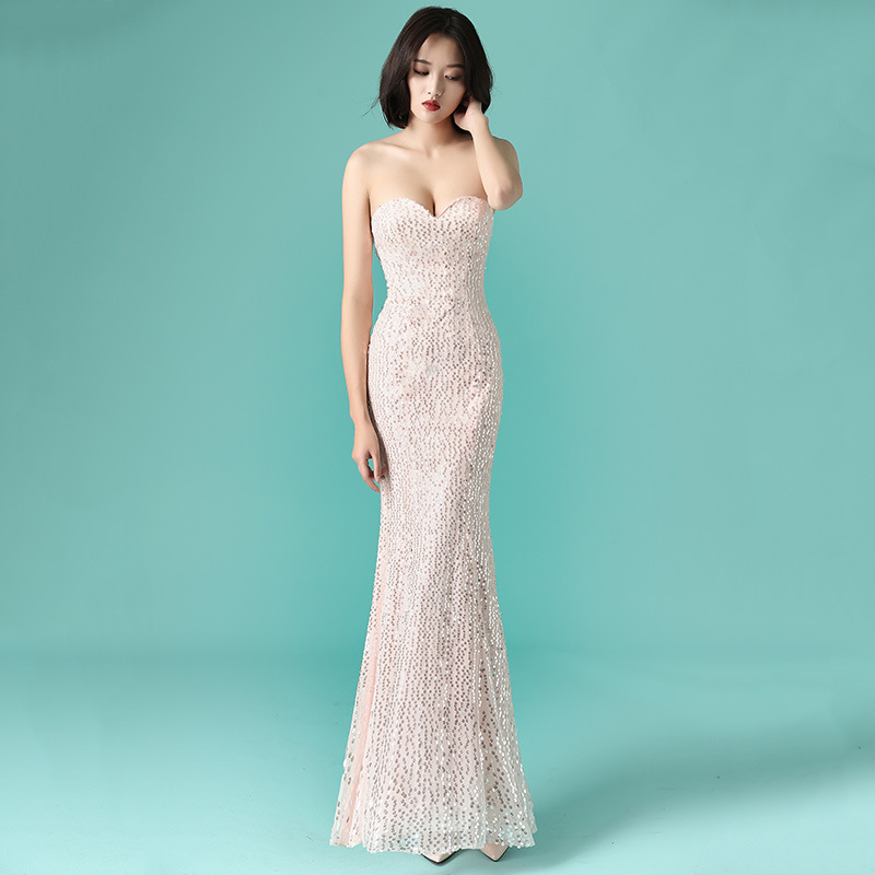 Dubai New Luxury Sexy Sleeveless   Evening     Dresses   Mermaid Diamond Beading Mermaid   Evening   Gowns 2019 formal   dresses     evening   gown