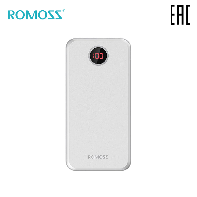 External Battery Romoss HO20 20000 MAh With Indication Of Charge Bank With Indicator [delivery From Russia]