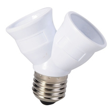 E27 to 2 E27 Light Bulb Lamp Socket Base Adapter Converter Splitter Lamp Holder Converter Bulb Lighting New Arrival недорого