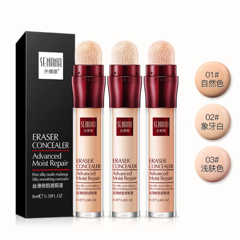 Face Makeup Concealer Cream Facial Corrector Foundation Moisturizing Cover Cream Concealer Stick Sponge Head