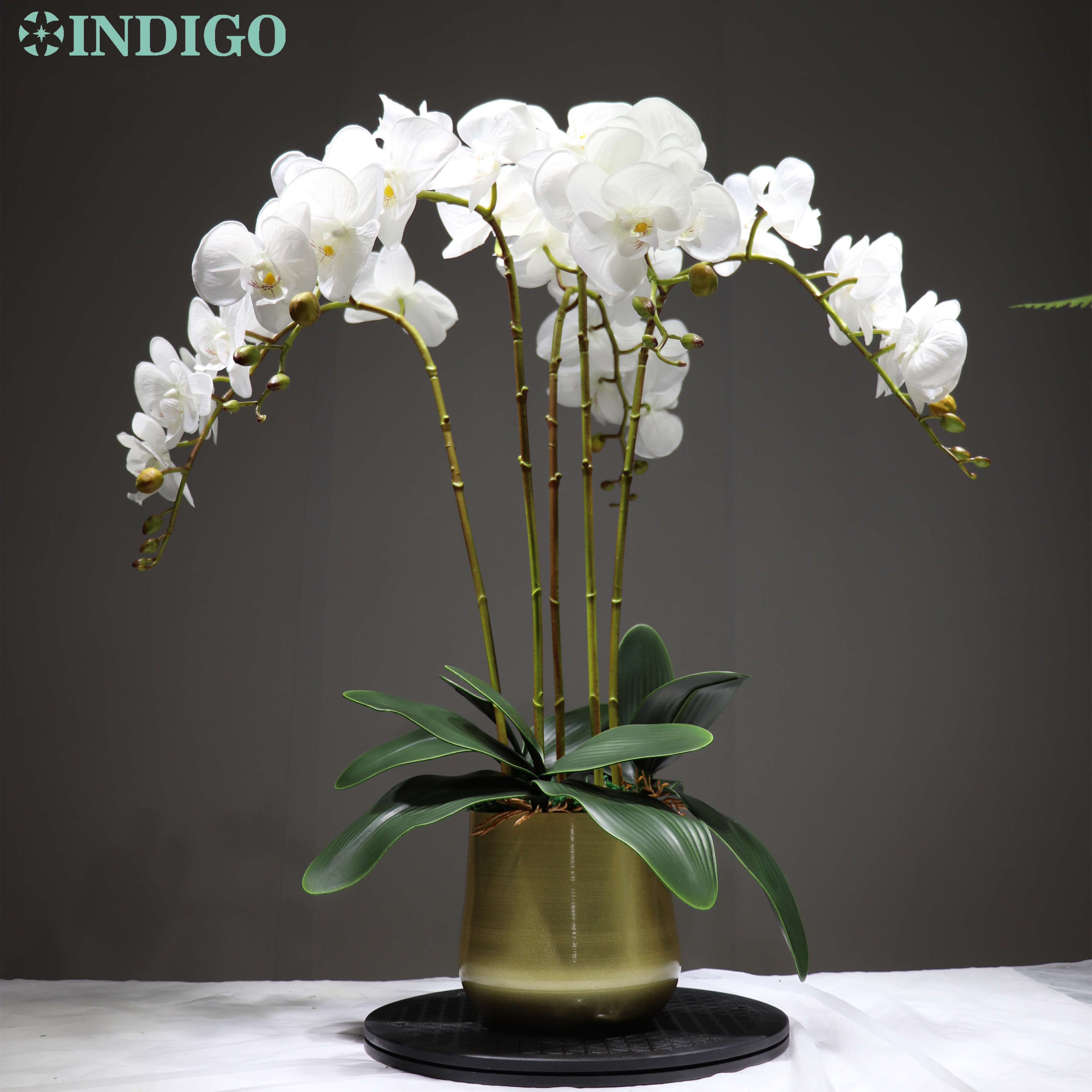 Индиго фаленопсис Орхидея настоящий сенсорный цветок белый искусственный цветок свадебный цветок орхидеи, цветочный украшение для рождес...