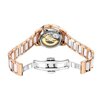 2021 New Designer Mechanical Watches Women Luxury Top Brand Ceramic Stainless Steel Diamond Music Ladies Automatic Wristwatches 2