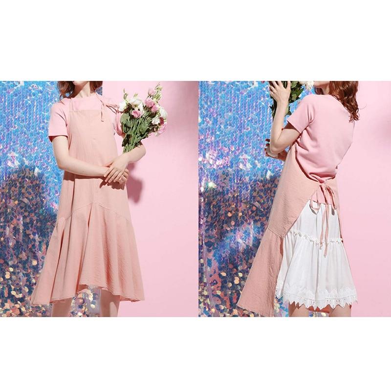 Retro Long Vintage Apron Adjustable Fishtail Style Gardening Work Cotton/Linen Blend Fashion Tie Apron Women'S Dress Girl (Adjus|Aprons| |  - title=