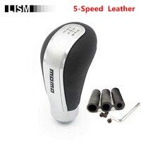 5 Speed Universal Leather MOMO Gear Shift Knob Gearshift Shifter Stick Lever Headball MT Pen POMO ARM for TOYOTA for Volkswagen|Gear Shift Knob| |  -