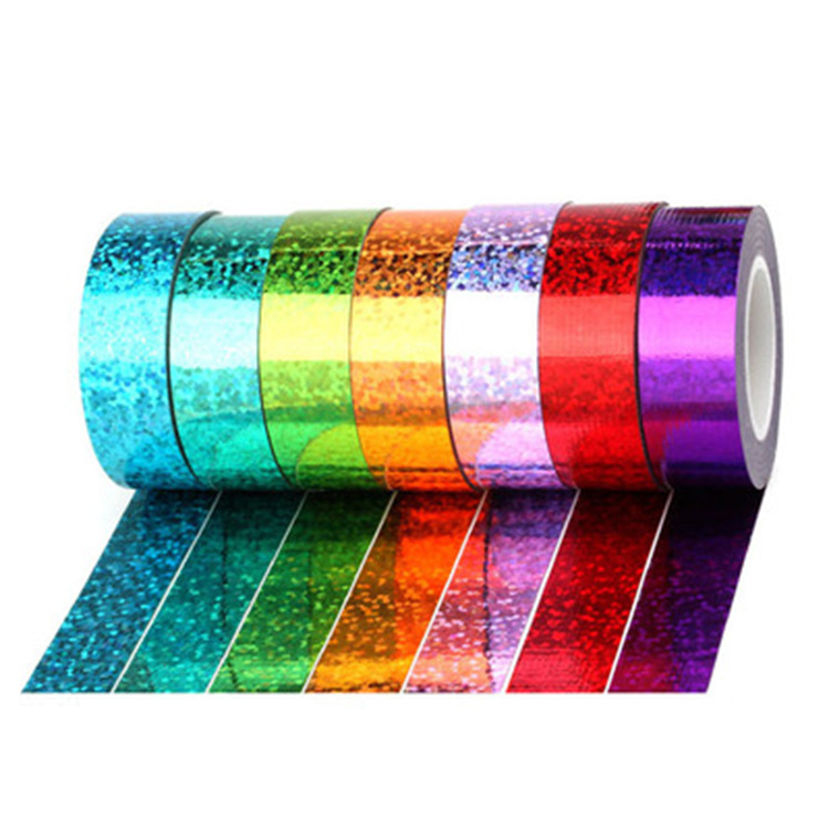 Laser Foil Tape Masking Tape Quality Stationery Diy Scrapbooking Photo Album 10m Decoration Tape For School And Office Tool