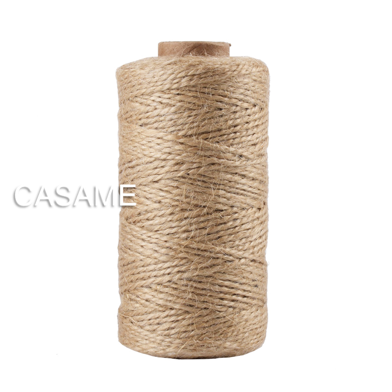 100m Natural Jute Baker Twine Burlap String Hemp Rope Party Wedding Gift Wrapping Cords Thread DIY Scrapbooking Florists Craft