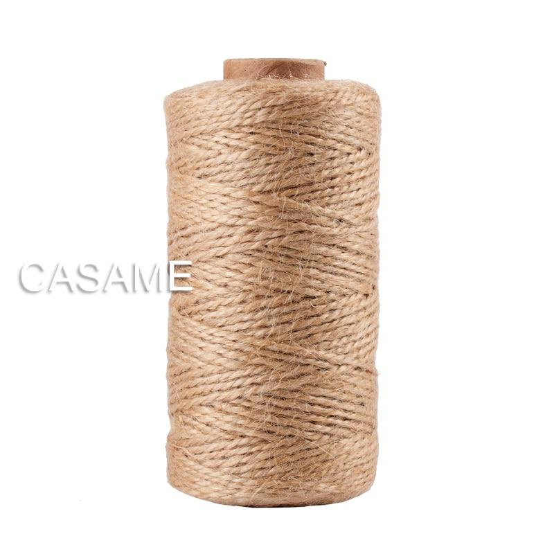 100m Natural Jute Baker Twine Burlap String Hemp Rope Party Wedding Gift Wrapping Cords Thread DIY Scrapbooking Florists Craft