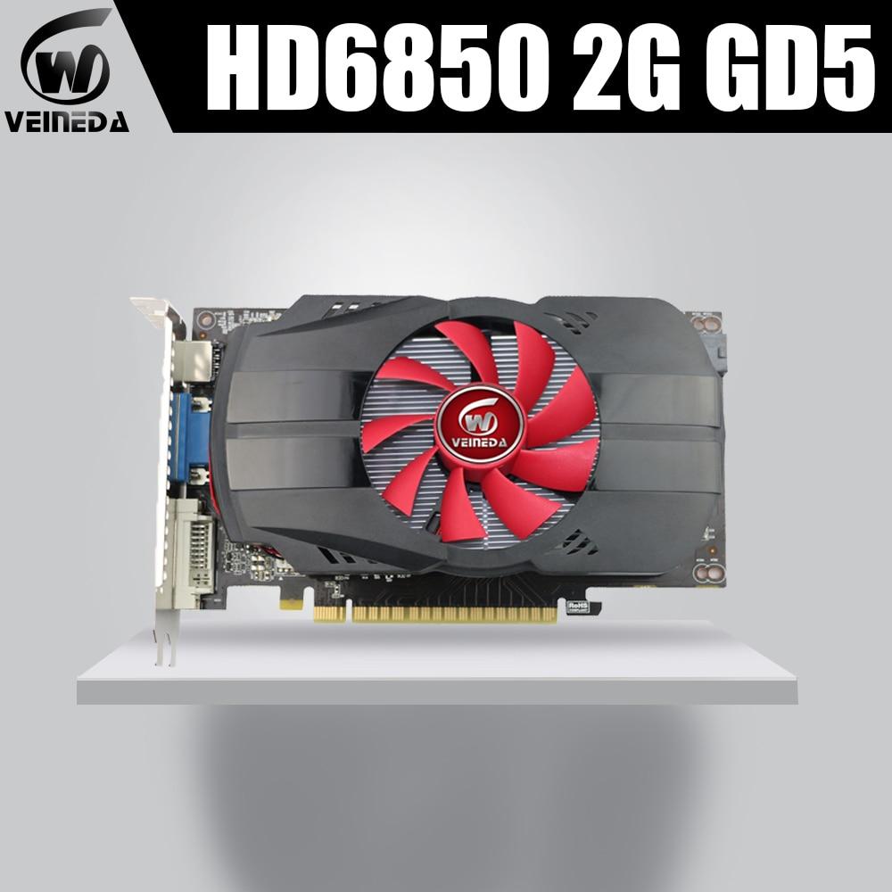 Graphics Cards Veineda HD6850 2GB GDDR5 256 Bit PC Desktop Graphics Cards PCI Express 2.0 Computer Graphics Cards