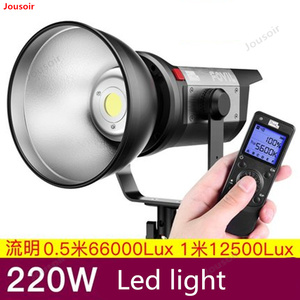 C220 fotografia luz cob luz solar led luz de preenchimento tiro iluminação profissional indoor e outdoor retrato tiro cd50 t03