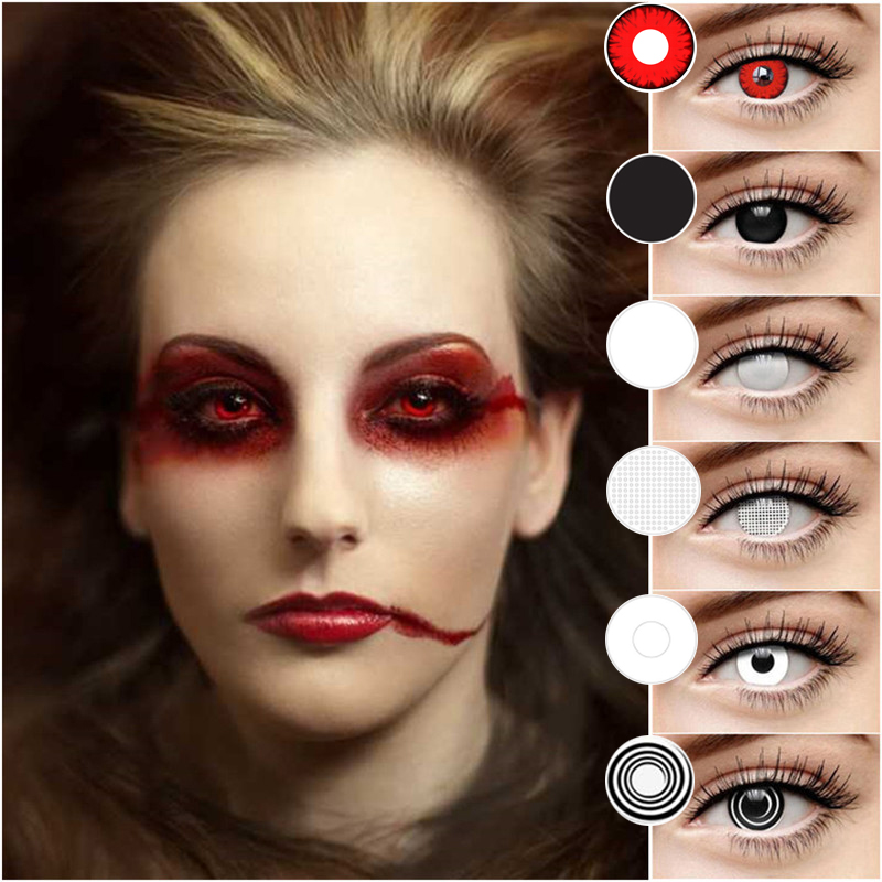 EYESHARE 2pcs/Pair Halloween Cosplay Colored  Contact Lens For Eyes  Cosmetic Contact Lenses  Eye Color Yearly Use
