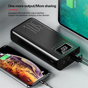 Image 5 - チー急速充電電源銀行 30000mah poverbank typecマイクロusb powerbank ledポータブル外部バッテリー