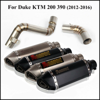 For 2012 2016 Duke KTM 200 390 Motorcycle Whole Set Pipe Exhaust System Modified Dirt Bike Mid Connect Tube Silencer Muffler Tip