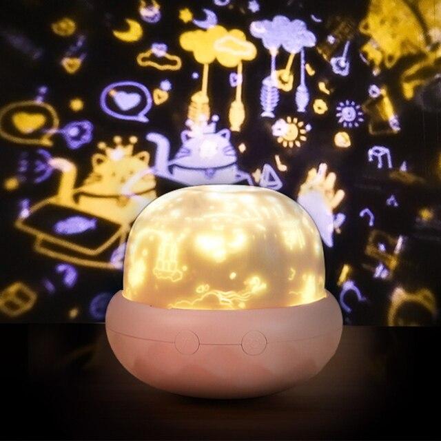 Волшебный вращающийся проектор ночник украшение для спальни