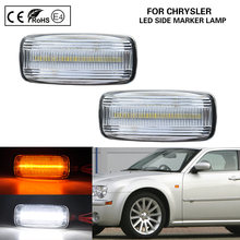 Feu de Position pour Chrysler 200 300, 2 pièces, lentille transparente, feu latéral avant, clignotant, lumière LED, pour Sebring ville et pays