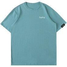 Hanlu XinGangFeng Men's 2021 Summer New Simple Cotton Short Sleeve T-Shirt Men's Lovers Bright Color Armband T-shirt