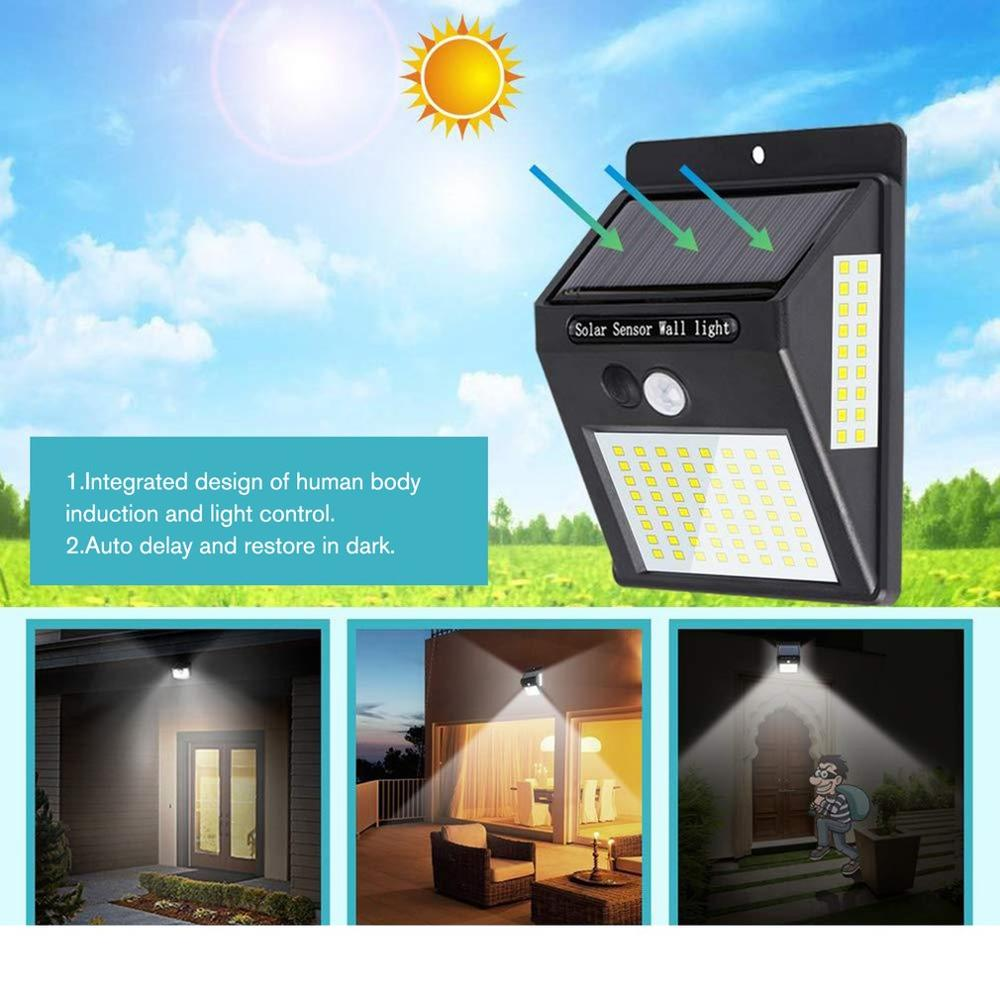 100 LEDs Solar Light Outdoor Solar Lamp PIR Motion Sensor Wall Light Waterproof Solar Powered Sunlight for Garden Decoration