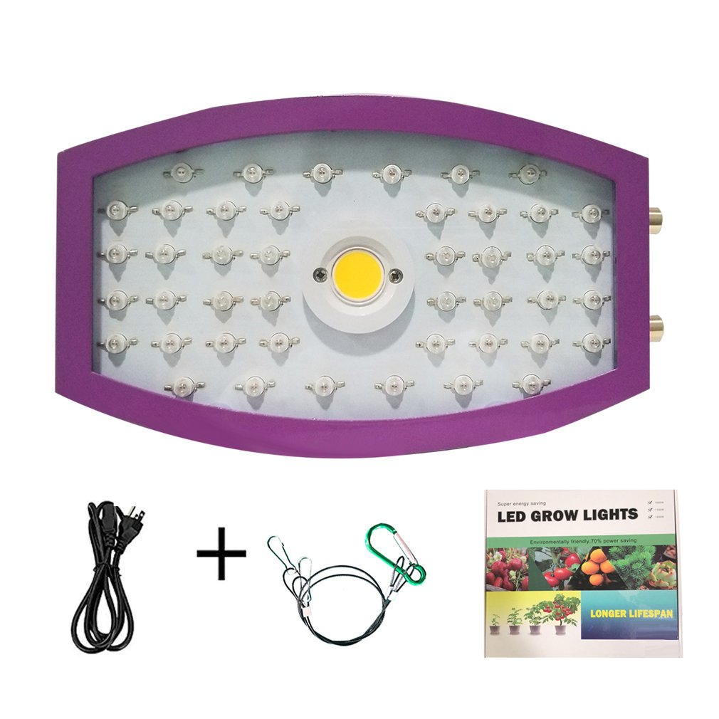Plants LED Grow Light Full Spectrum 1000W Double Chip Red/Blue/UV/IR Lateral Circle Light For Indoor Plants VEG BLOOM
