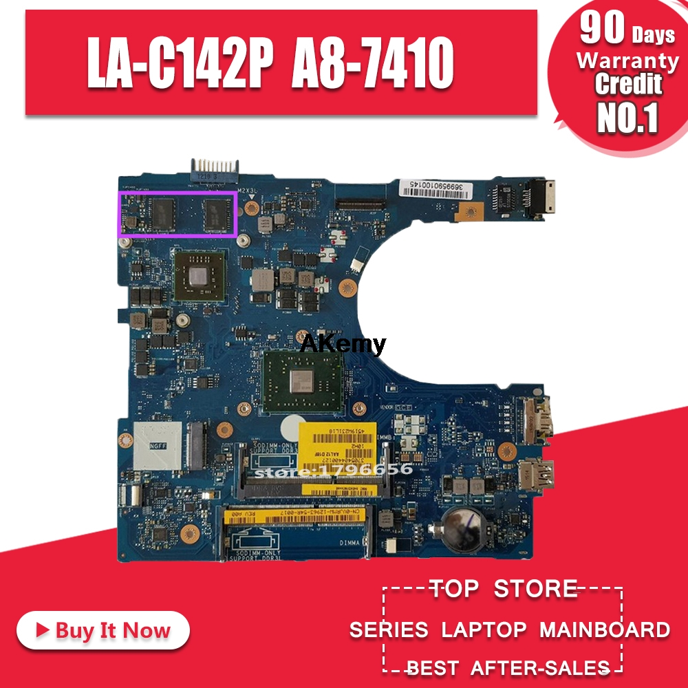 For Dell Inspiron 5455 5555 Laptop Mortherboard With A8-7410 CN-0GFDVC GFDVC 0GFDVC AAL12 LA-C142P Motherboard Tested 100% Work