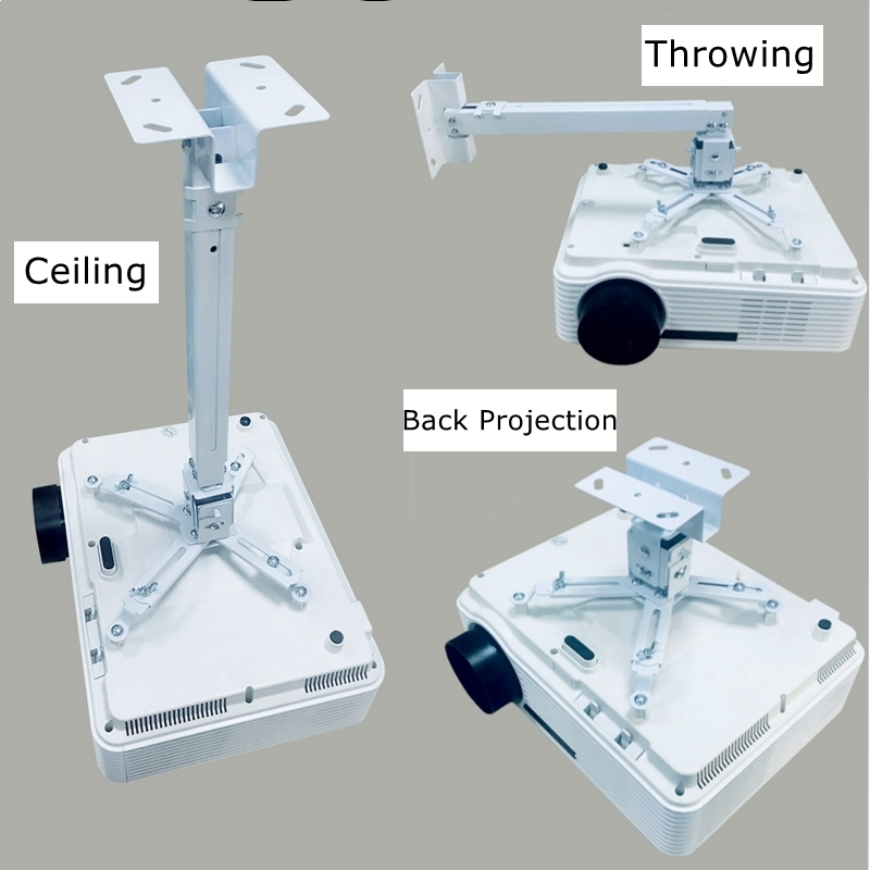Adjustable Projector Ceiling Mount Wall Hanging Projector Bracket Stretch Holder For LED Proyector Holder Universal Loading 30KG