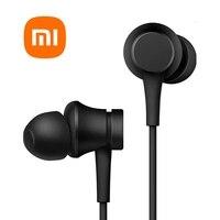 Originele Xiaomi Piston Verse Versie Oortelefoon Stereo Microfoon 3.5Mm In-Ear Wired Controle Met Mic Voor Xiaomi Redmi oordopjes