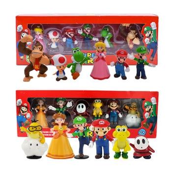 Figuras de acción de Super Mario Bros, Bowser, Luigi, Koopa, Yoshi, Waluigi,...