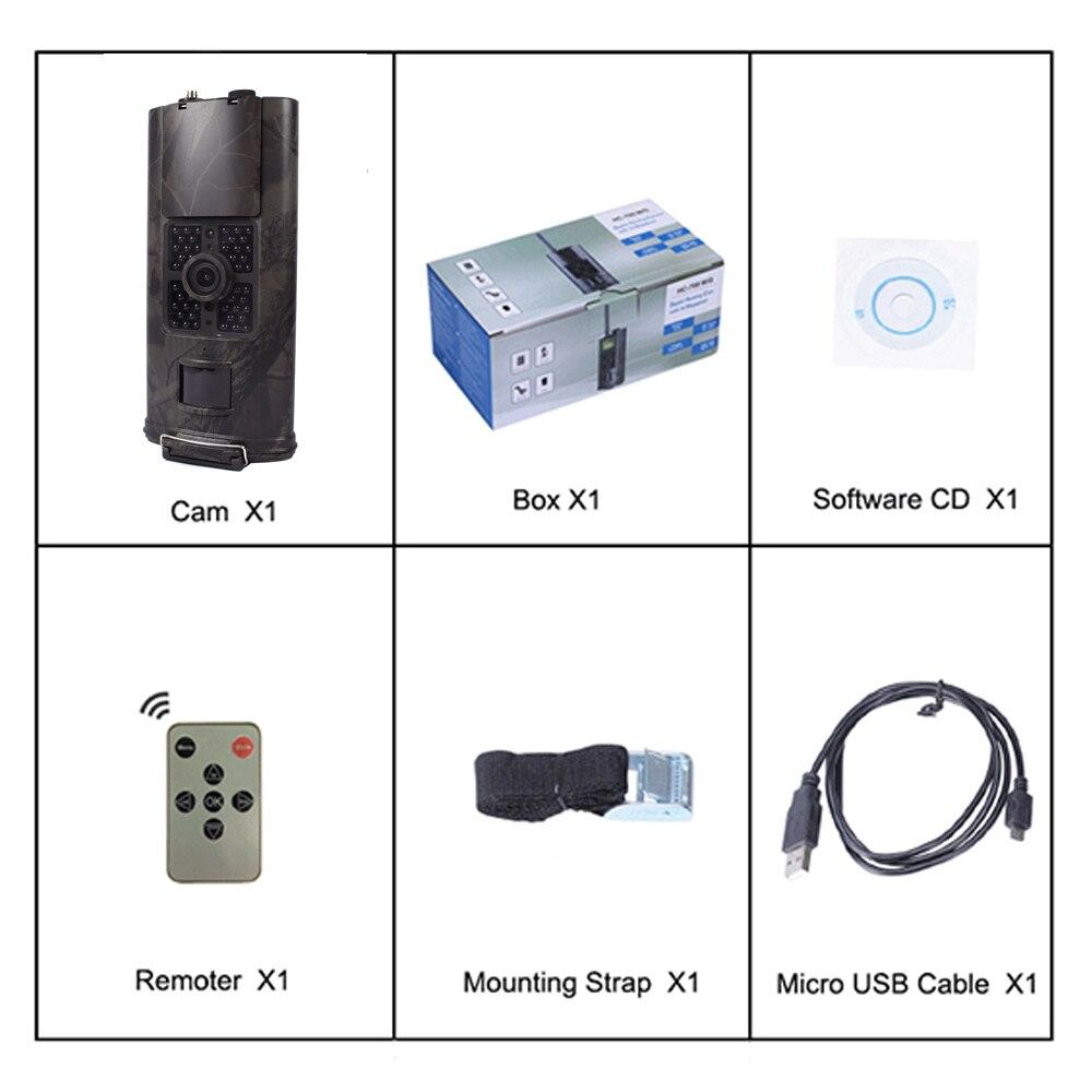 Портативный 1080p HD 2G MMS GPRS Trail камера охотничья камера 16MP наблюдение за дикой природой HC-700M ИК-камера для охоты 0,5 s