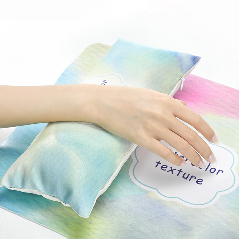 6Colors Soft Nail gilt European Style Hand Pillow Set Cushion High-end PU Leather Hand Rest Palm Rest Manicure Table Arm Pillow