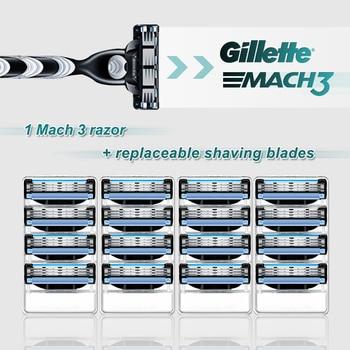 Shaving Machine Gillette Mach 3 Straight Razor Case Face Shaver For Men Shave Cassettes For Beard Shavette Tools With Blades