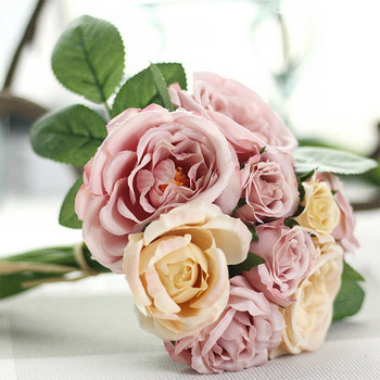 New Artificial Flowers Bouquets Rose Flower Simulation Mother's Day Decoration for Home Wedding