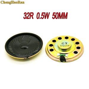 Chenghaoran 2 pces novo alto-falante ultra-fino 32 ohms 0.5 watt 0.5 w 32r diâmetro do orador 50mm 5 cm espessura 9mm