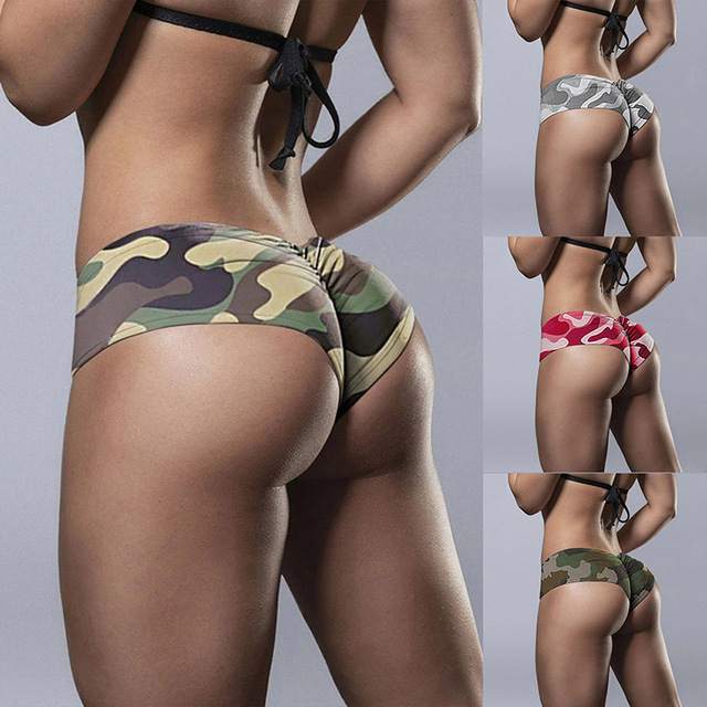 Camouflage Printed Female Shorts Sports Fitness Tight push-ups Stretch Breathable Shorts Beach Casual Female Shorts 1