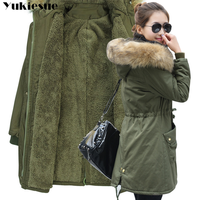 Moda outono inverno quente jaquetas de pele feminina gola longa parka plus size lapela casual algodão outwear das mulheres parque mais tamanho Parcas     -