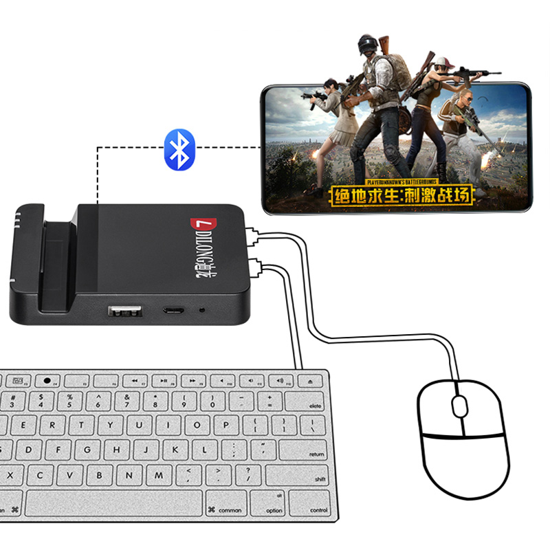 D8 Gamepad Pubg Mobile Bluetooth 4.0 Android PUBG Controller Mobile Controller Gaming Keyboard Mouse Converter For IOS iPad PC