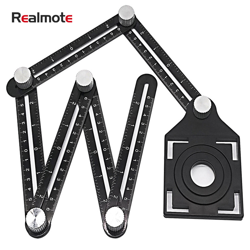 Realmote Universal Tile Open Hole Positioner Hole Opener Bring Location Punch High-precision Tiling Artifact Six A Folding