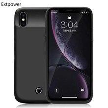 Extpower 5000mAh Dünne Beschichtung stoßfest Batterie Ladegerät Fall Für iPhone XR XsMax Aufladbare Power Bank Für iPhone X XS fall