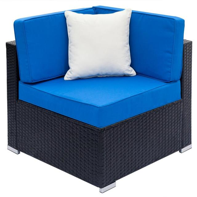 Patio Weaving Rattan Sofa Set 6