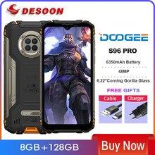 Doogee s96 pro áspero telefone 48mp redondo quad câmera visão noturna infravermelha helio g90 octa núcleo 8 + 128gb 6350mah