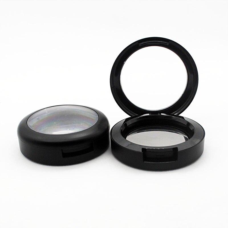 Black Matte Sunroof Blush Replacement Box 6g Plastic Makeup Pressed Powder Empty Shell 44mm Inner Diameter Pressure Plate