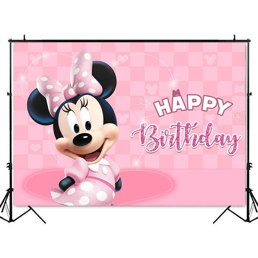 Dziewczyna różowy urodziny tło kreskówka szczęśliwy tło urodzinowe różowa dziewczyna dekoracje urodzinowe dla dzieci urodziny dostosuj