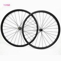 29er carbon mtb disc wheels 45x25mm asymmetry tubeless bicycle disc wheelset D411SB D412SB 100x15 142x12 1540g  pillar 1420
